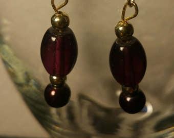 Deep purple earrings