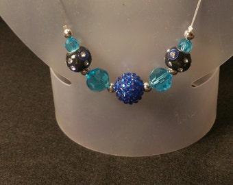 Aqua blue necklace/earring set