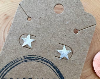 Tiny Pointed Star Sterling Silver Earrings