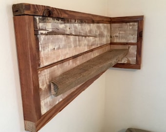 Reclaimed Pine Corner Shelf