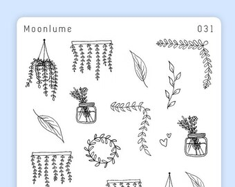 Aesthetic cute drawing Picturesboss Black And White Plant Stickers 21 Cute Aesthetic Stickers Decorative Planner Stickers Monochrome Stickers Simple Stickers Florals 031 Wallpaperplay Aesthetic Stickers Etsy