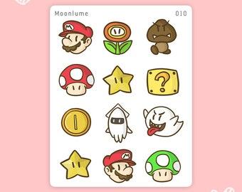 Mario weekly habit tracker stickers 10 super mario bros | Etsy