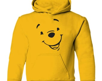 WINNIE The POOH Yellow Adults unisex TV cartoon character Hoodie Hoody  hooded sweatshirt 9ae41d452
