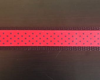 Navy & Red Polka Dot Collar