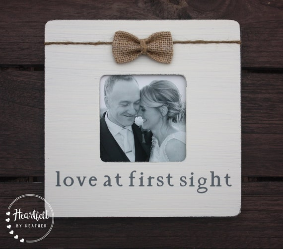 Love At First Sight Frame Custom Picture Frame For Couple Etsy