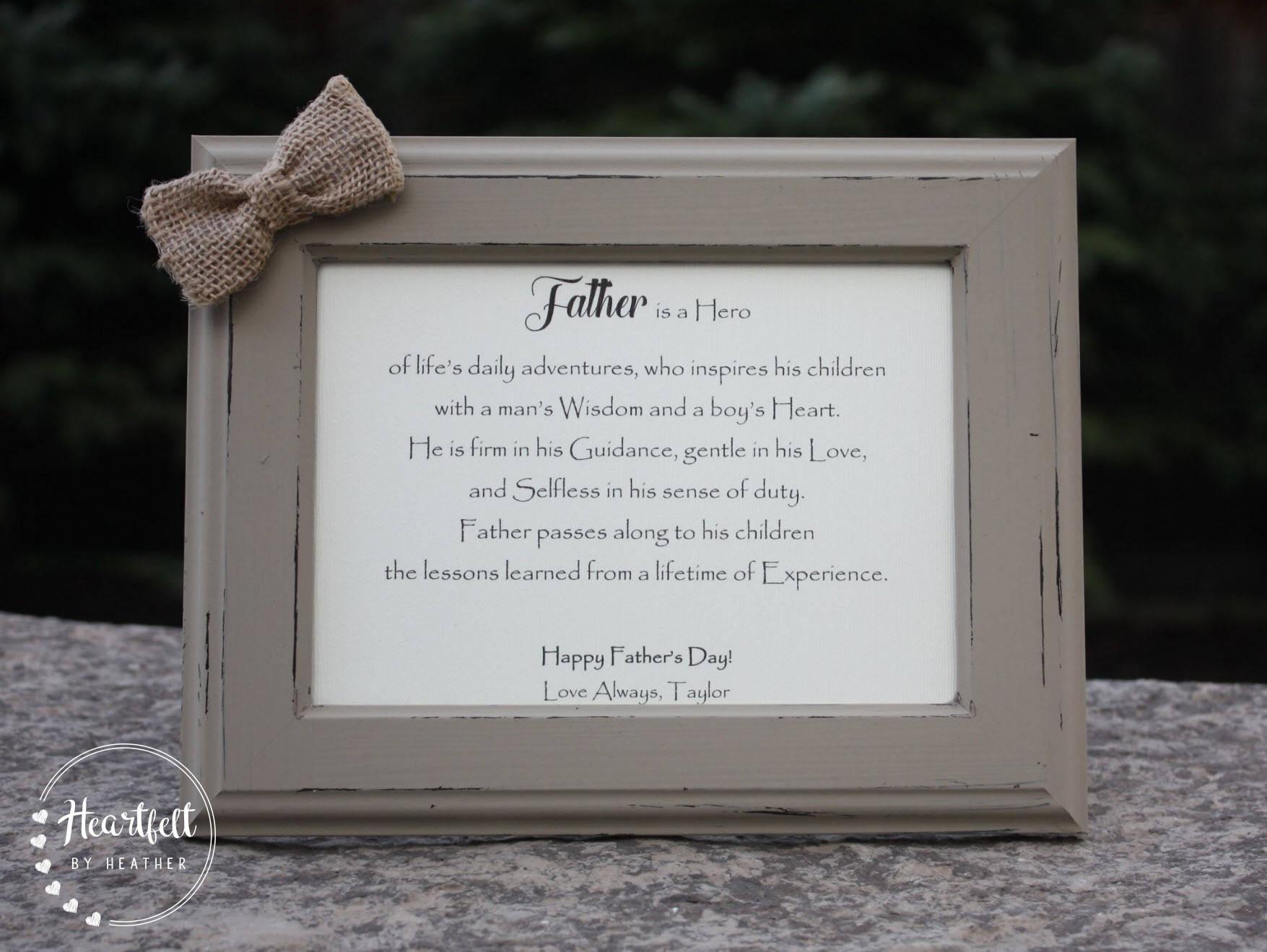Poema del padre para papá regalos únicos para padre personalizado ...