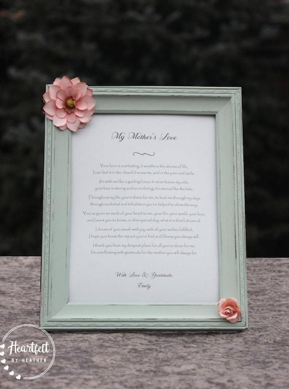 Gedicht Für Mama Einzigartiges Geschenk Für Mutter Der Braut Bräutigam Beunruhigt Rahmen Mutter Geschenk Muttertag Tochter Sohn