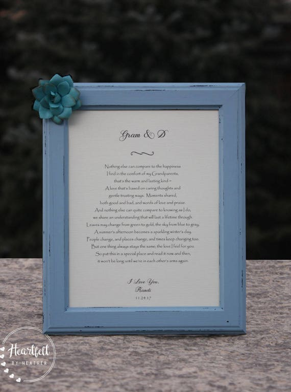 Grand-parent poème cadeau pour les grands-parents de la mariée de grand-parent cadeau grand-mère et grand-père poème mariage cadeau de remerciement pour les grands-parents