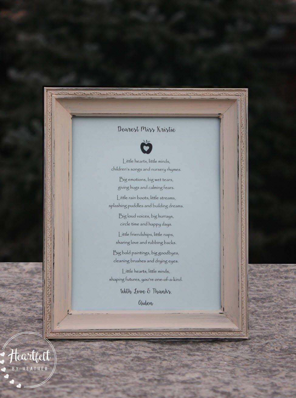 Guardería proveedor regalo poesía personalizada guardería gracias ...