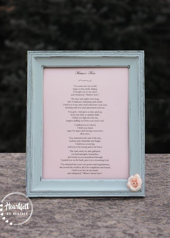 Prezent ślubny Od Mama Do Córki Lub Syna Macierzyństwa Wiersz Kolegium Podyplomowe Z Matki Do Syna Lub Córka Spersonalizowane Poezji Niestandardowej