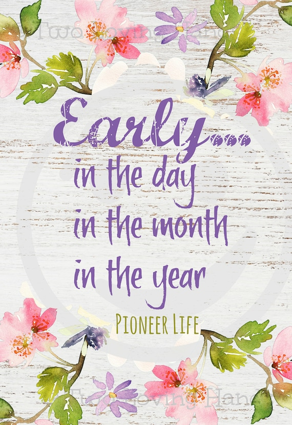 JW Pioneer Life Gift Early in the Day Week Month Year Eucalyptus Leaves Picture Laminated MAGNET New Pioneer School Gift JW Gift