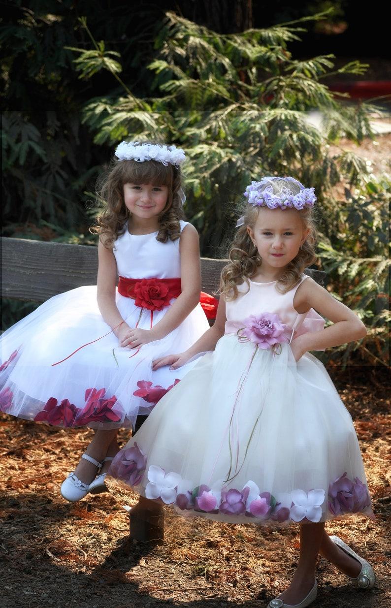 dce9e565b Pink top flower girl dress Tulle girls Holiday Christmas | Etsy