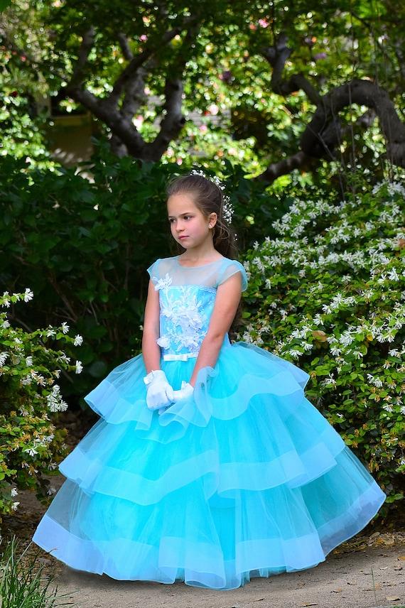 04245a81df72 Flower Girl Dress Applique Dress Tutu dress Girls Party Dress