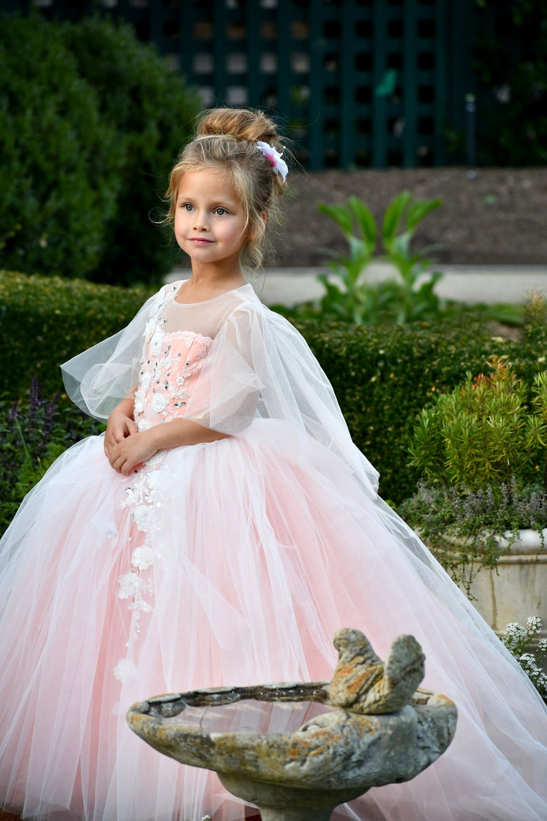 0c8d6b630 Pink Blush Flower girl dress Tulle Lace Flower girl dresses | Etsy