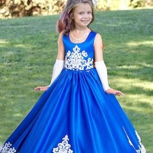 royal blue real princess royal blue party dresses for girls,