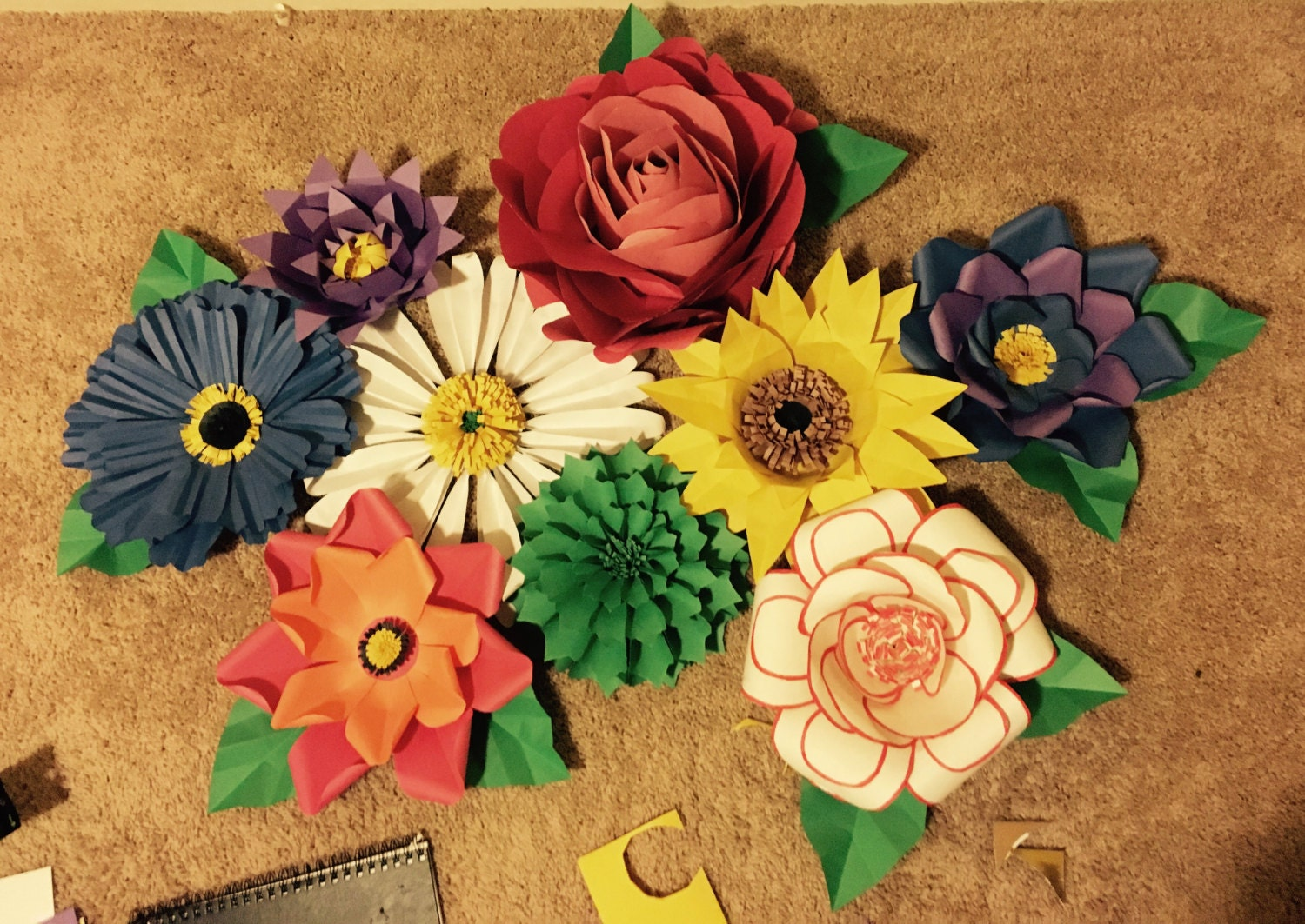 Paper Floral Wall Decor   Etsy