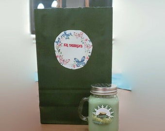 Coconut Soy wax chocolate mint candle St Gift Box Patrick\u2019s Day Shamrock Shake scented candle