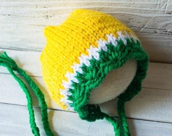 Bonnet - Lemon Bonnet - Fruit Bonnet - Lemon - Fruit - Summer - Summer Bonnet - Lemonade - Lemonade Stand - Themed Session - Newborn Bonnet