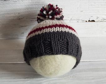 Sock Monkey Hat - Sock Monkey - Hat - Neo Traditional - Traditional Sock Monkey - Sock Monkey Stripes - Striped Hat - Beanie - Traditional