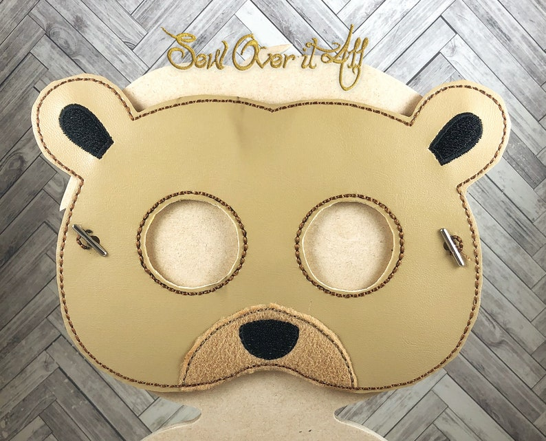 Adult and Child Size Faux Leather Bear Mask
