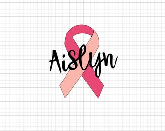 Breast Cancer Name Decal