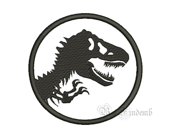 JURASSIC PARK Embroidery Designs 7 size Instant Download