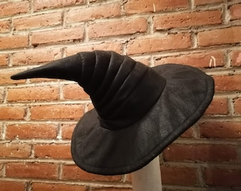 Witch/Wizard Hat Black Snailed Tail
