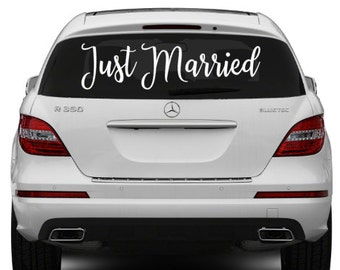 Just Married Car Decal, Just Married, Decal, Wedding Sign, Wedding, Car Decoration, Wedding Decal, Just Married Sign, Just Married Sticker