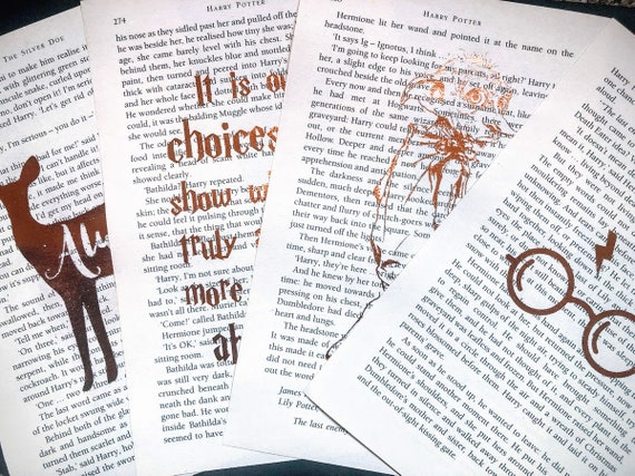 harry potter quotes on recycled book pages