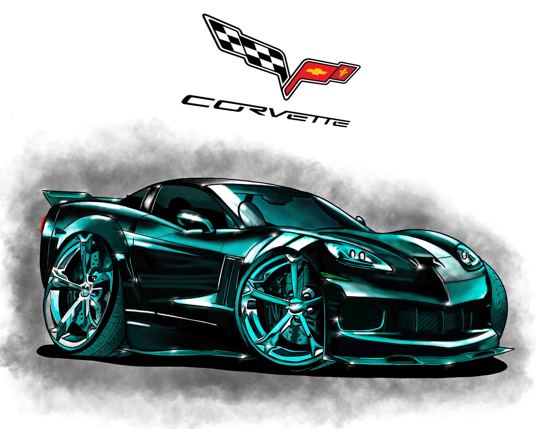 Bonito Corvette Stingray Para Colorear Bosquejo - Enmarcado Para ...