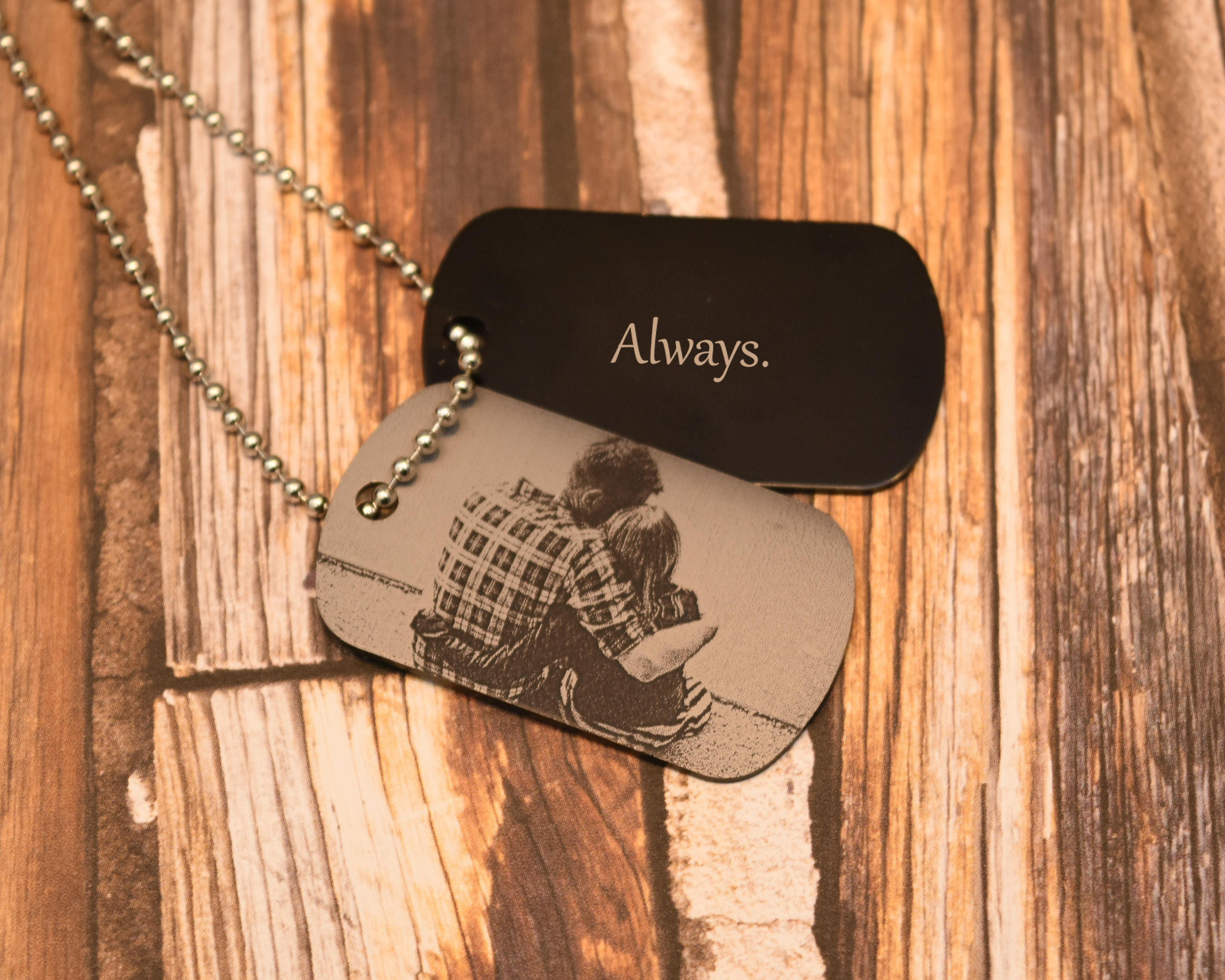 Custom Photo Dog Tag Couples Photo Free Shipping Etsy