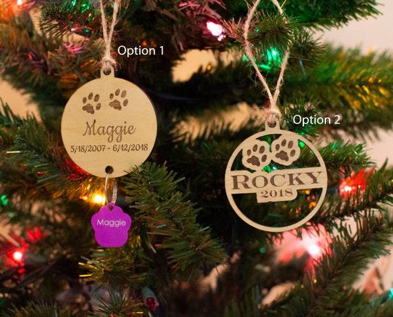 Custom Engraving Option Ornaments