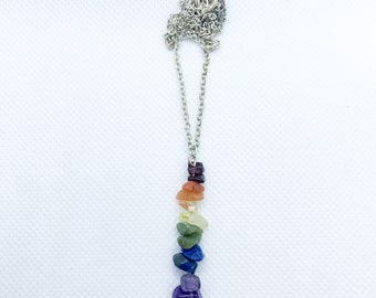 Rainbow Crystal Pendant Necklace | Pride Necklace | Pride Jewelry | Rainbow Pendant Necklace | LGBTQIA2+ Necklace | LGBT Necklace