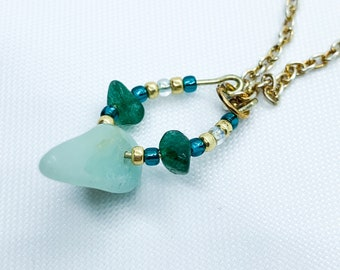 Amazonite and Moss Agate Gemstone Necklace | Crystal Necklace | Gift for Her | Bridesmaid Gift | Birthday Gift | Gemstone Jewellery