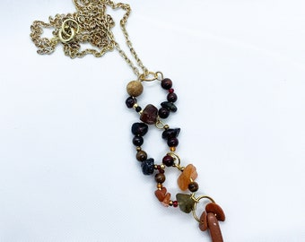 Garnet Necklace | Gemstone Necklace | Gift for Her | Bridesmaid Gift | Birthday Gift | Crystal Gift | Silver Gift