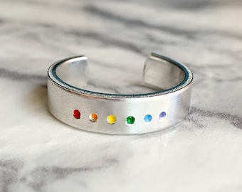 Queer Pride Minimalist Ring | Rainbow Ring | LGBTQIA+ Ring | LGBT Ring | Rainbow Jewelry | Gay Pride Jewelry | Queer Jewelry | Pride Ring