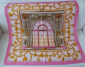 Silk scarf by Cartier, CA. 90x90, silk, silk, soie, scarf, must de Cartier No 13, collector 39 s item