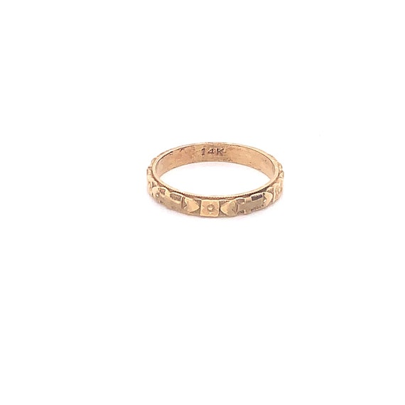 Vintage 1940's 14k yellow gold faith, hope and cha