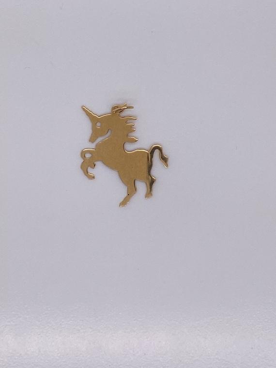 Vintage 14k yellow gold unicorn charm