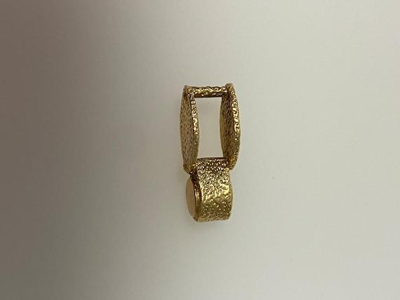 Vintage 14k yellow gold loupe charm - image 2