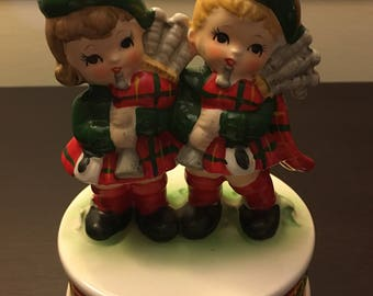 Price Imports Japan Christmas Musical Figurine ; Price Imports ; Rare