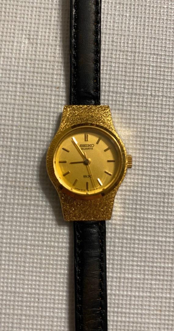 Vintage Seiko Quartz SX Norwegian Calf Watch Gold