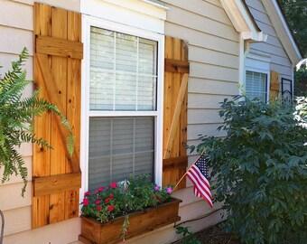 Cedar shutters | Etsy