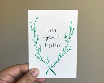 Let's Grow Together - Valentine's Day Card