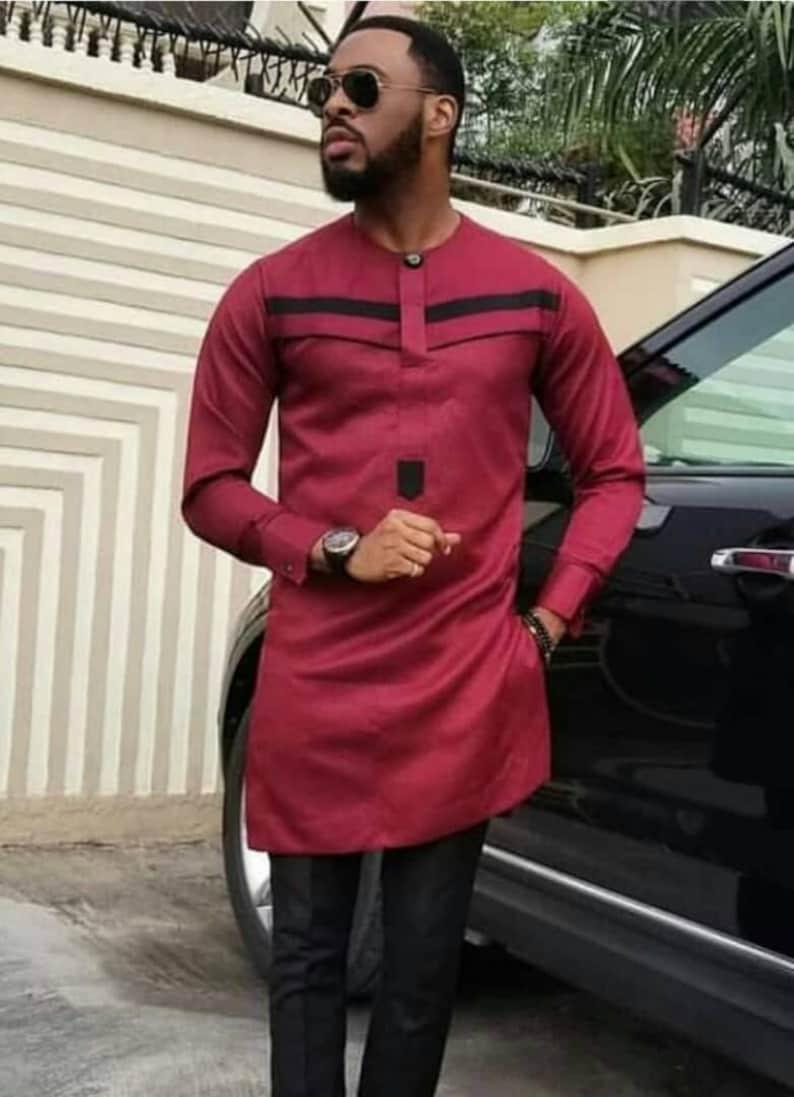 d2c6a2e85 Elegant Dashiki Suite,African Men's Clothing, Dashiki Two Piece  Suite,African Modern Style Dashiki Men's Suite, African Style,Shirt & Pants