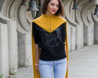 The Onira Scarf Chunky Crochet Pattern PDF Winter Unisex Bandana Design DIY