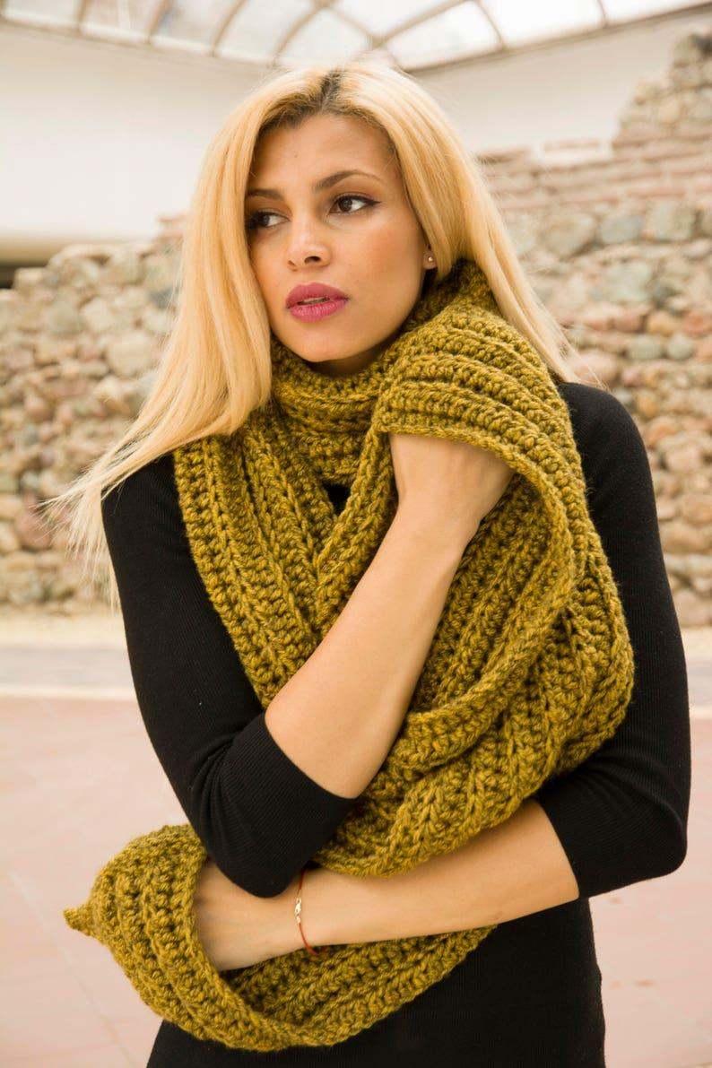 Manush Calendario.The Manush Scarf Easy Pdf Pattern Men Winter Chunky Crochet Ladies Long Shawl With Pockets Diy