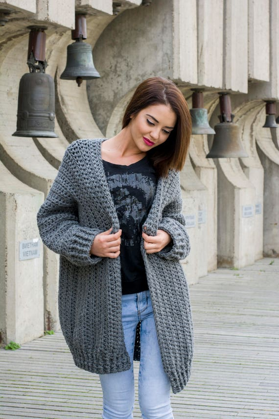 The Bigger The Better Cardigan Easy Pattern Pdf Chunky