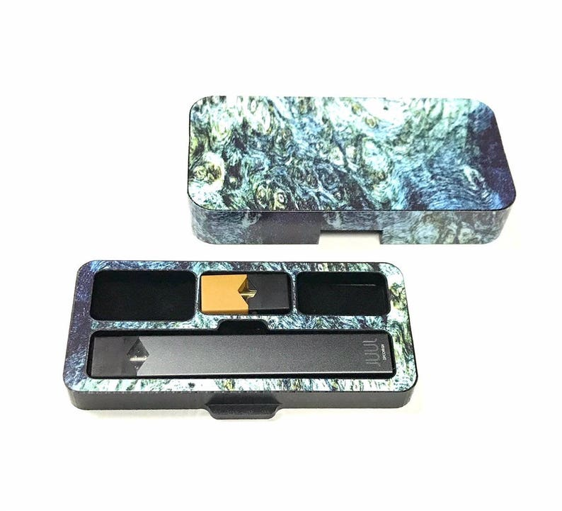 JUUL Vape travel case Burl Wood 1 S540 design