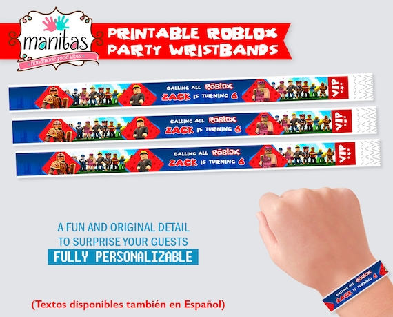photograph relating to Printable Wristbands titled Roblox Birthday Printable Wristbands - Roblox Occasion - Roblox Occasion Materials - Roblox